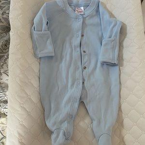 Hanna Andersson footie baby blue color